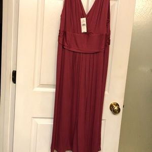 Loft dark pink dress with tags XL
